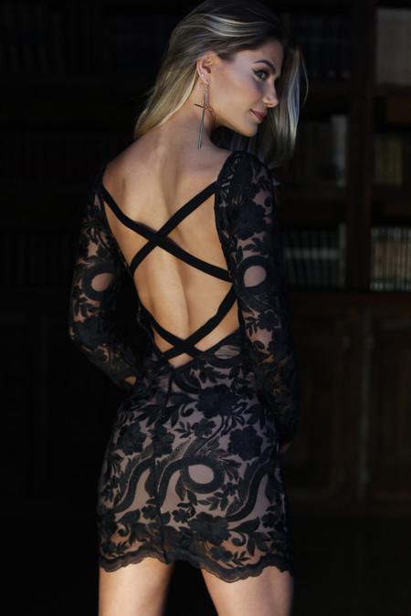 Vestido Curto Tule Black - Andreia Mazzochi Store - costas 2