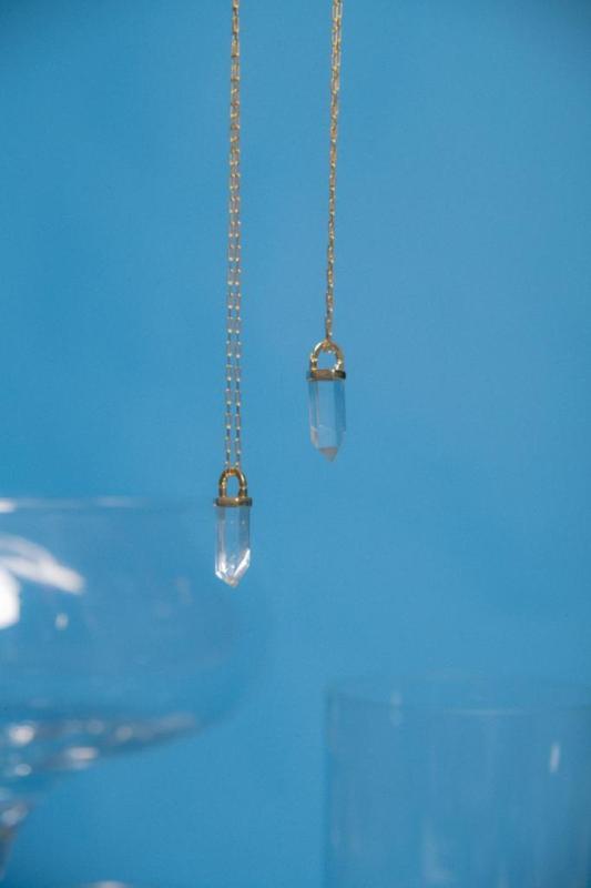 Colar Cristal Água Corrente Cartier Comprido Banhado a Ouro M Loures